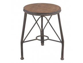 Kovová industriální stolička vintage Clayre & Eef