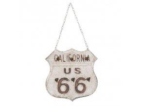 Cedule Věšák California 66