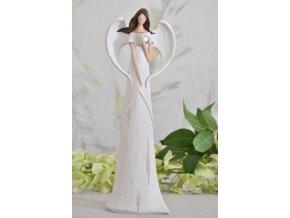 Anděl bílá patina 30cm