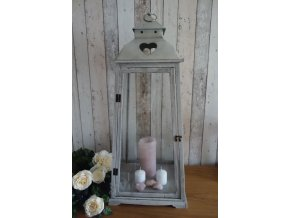 Lucerna šedá patina vintage 89cm