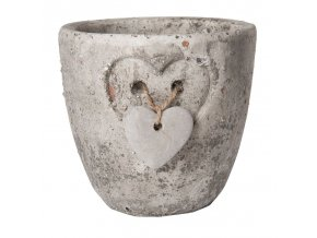 kameninovy kvetinac grey heart