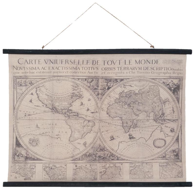 Nástěnná mapa světa vintage 105*2*76 cm Clayre & Eef