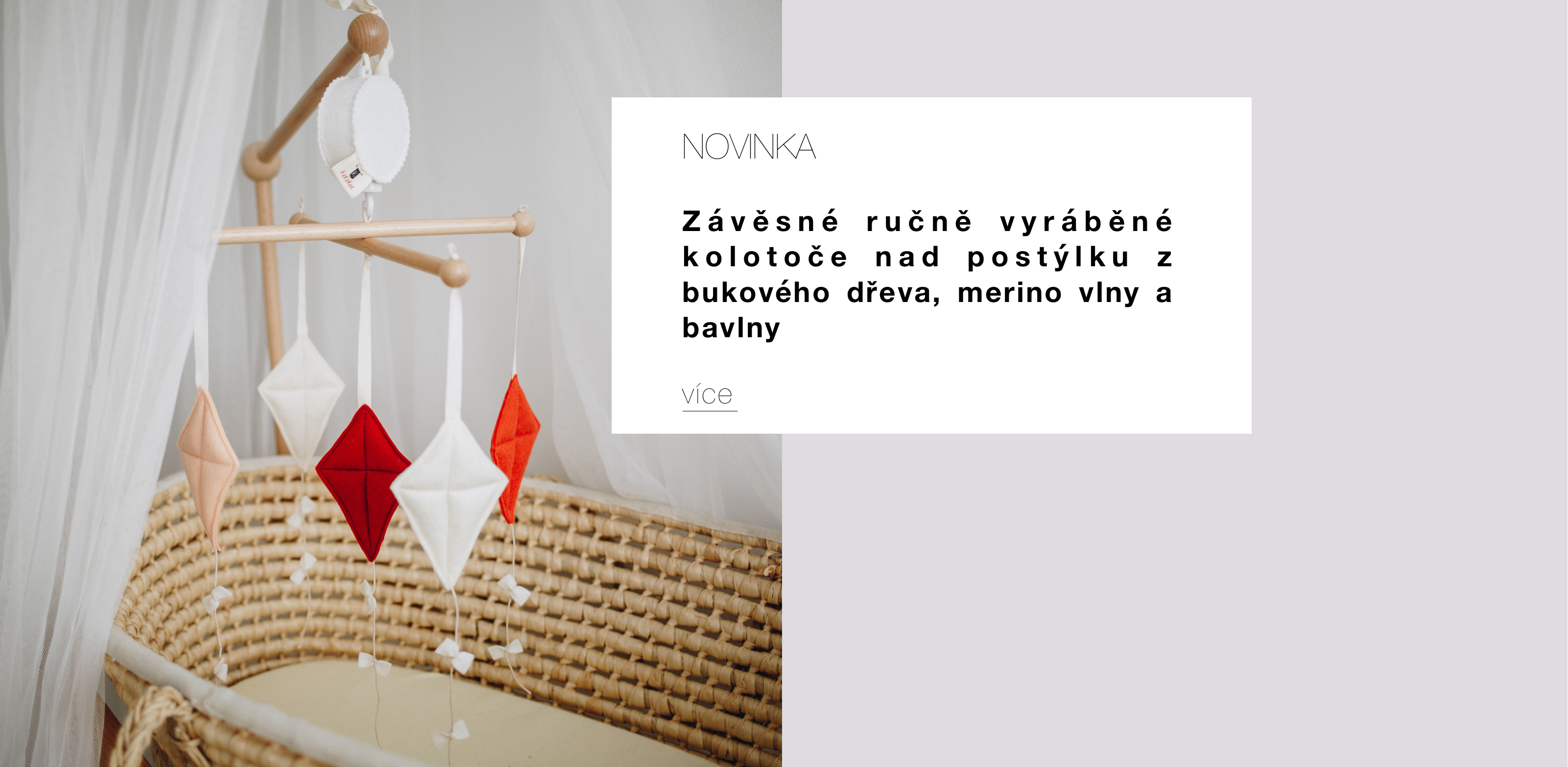 Ručně vyráběné závěsné kolotoče nad postýlku od Kotoloč