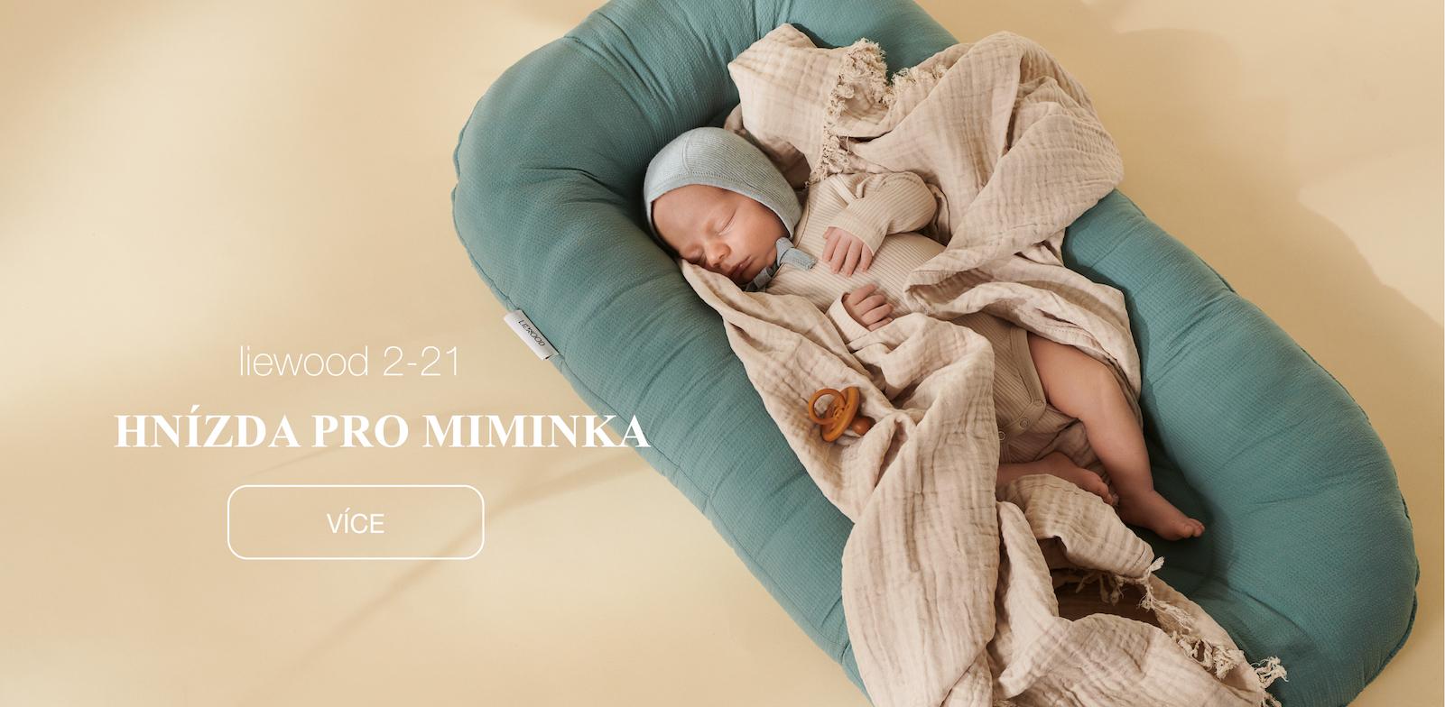 Hnízdečka pro miminka ze 100% organické bavlny