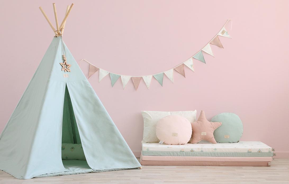 pastel-teepee-mattress-pink-mood-nobodinoz