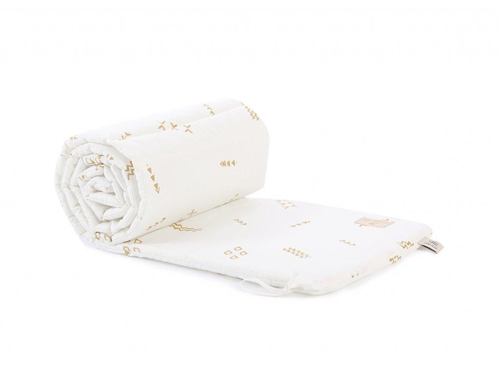 nest cot bumper tour de lit protector de cuna gold secrets white nobodinoz 1