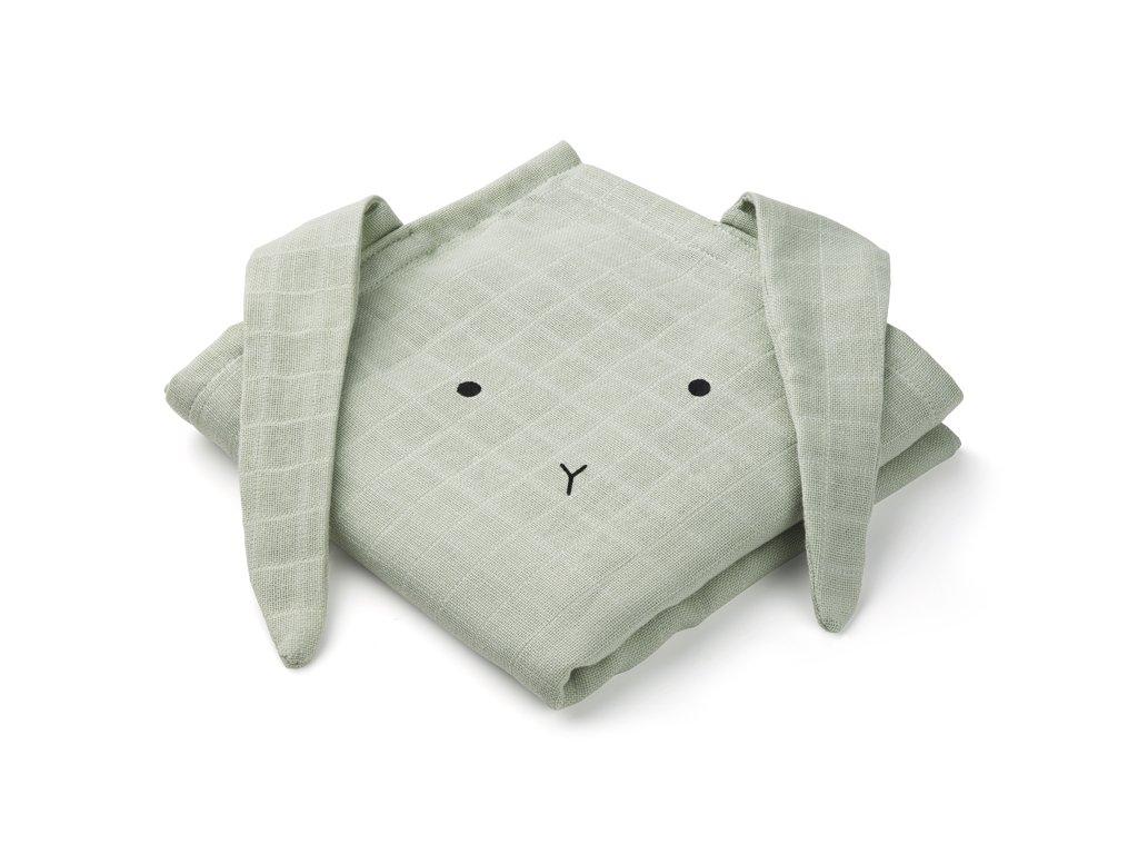 Hannah muslin cloth rabbit dusty mint