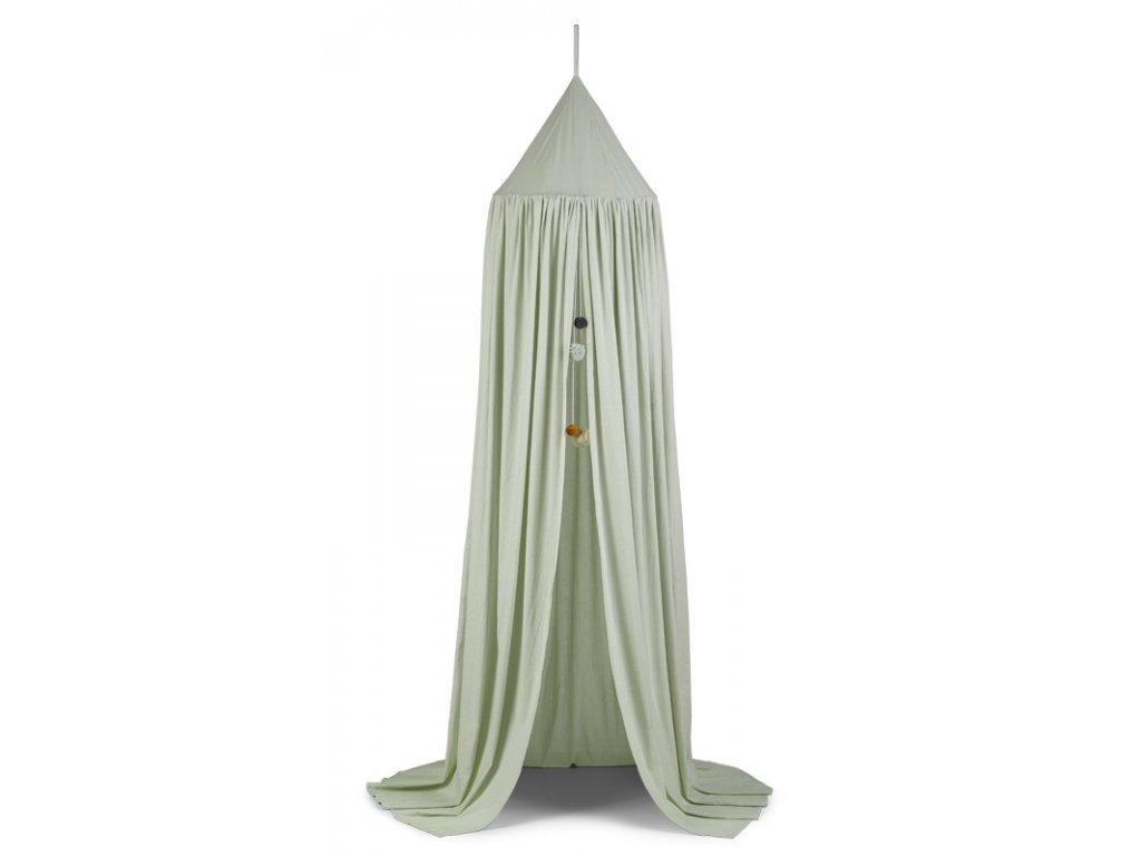 Enzo canopy little dot dusty mint