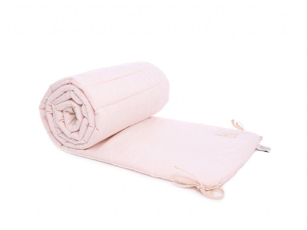 nest cot bumper tour de lit protector de cuna dream pink honeycomb nobodinoz 1