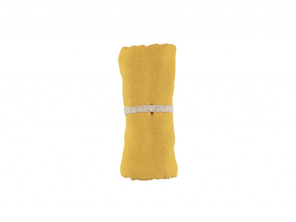 baby love swaddles lange muselinas farniente yellow nobodinoz 1
