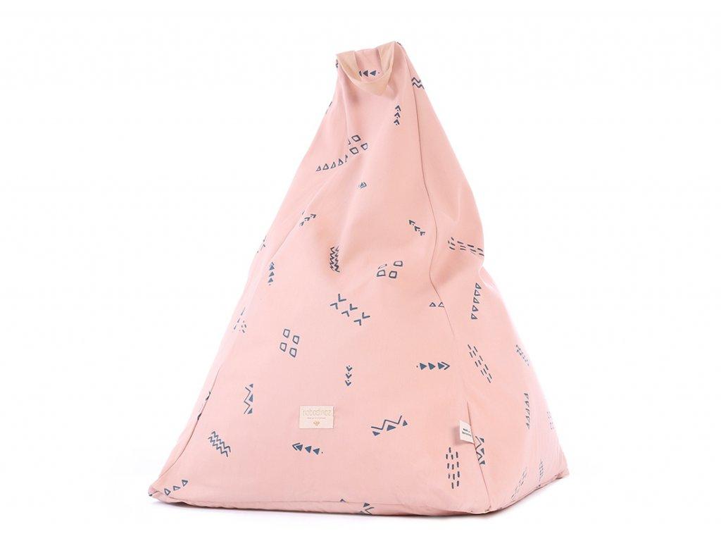 Keops beanbag pouf puf blue secrets misty pink nobodinoz 1