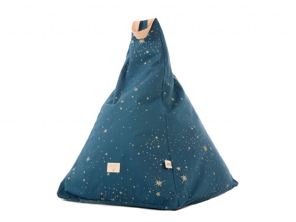 Keops beanbag pouf puf gold stella night blue nobodinoz 1