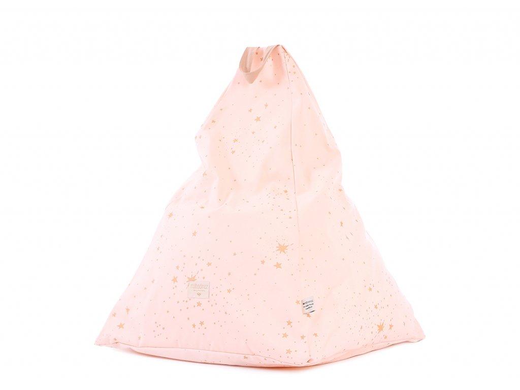 Keops beanbag pouf puf gold stella dream pink nobodinoz 1