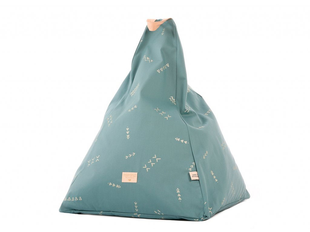 Keops beanbag pouf puf gold secrets magic green nobodinoz 1
