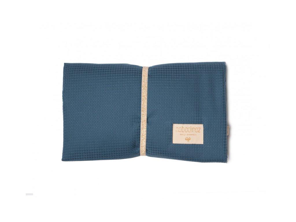 mozart waterproof changing pad night blue cambiador azul matelas a langer bleu nobodinoz