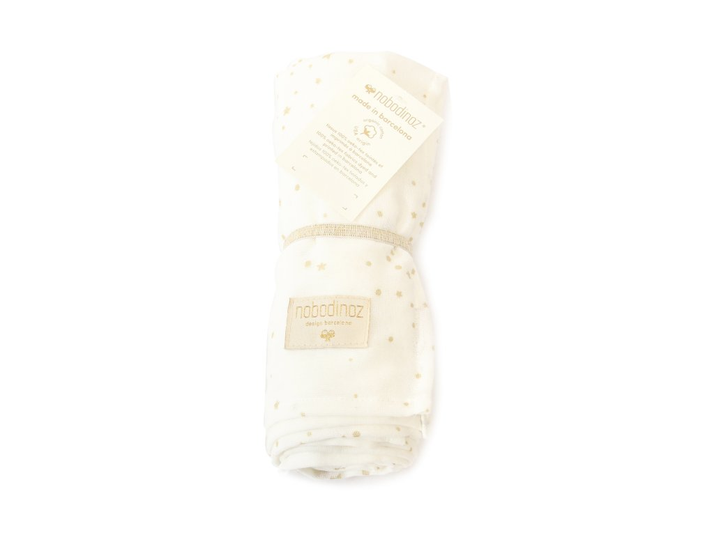 butterfly swaddle gold stella white nobodinoz 1