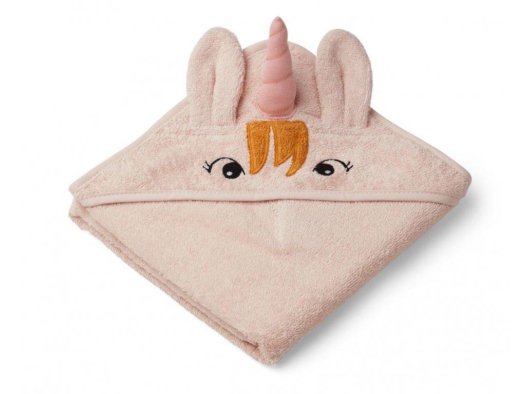 Albert Hooded Towel Unicorn Sorbet Rose