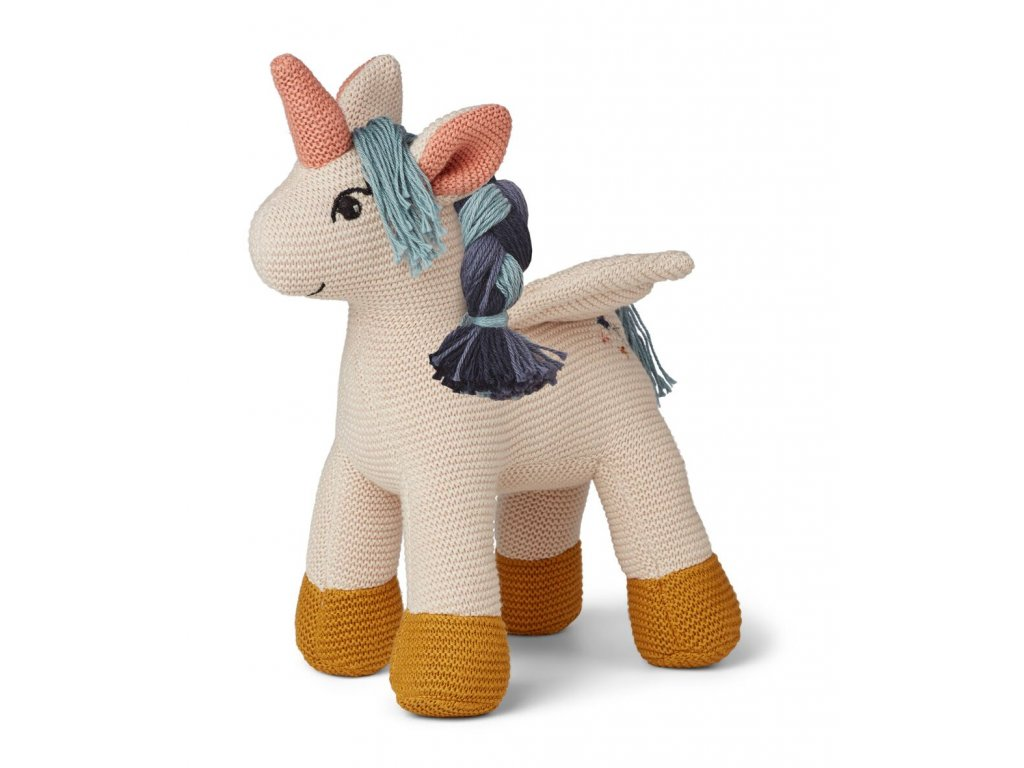 Adiana Unicorn Knitted Teddy Sandy
