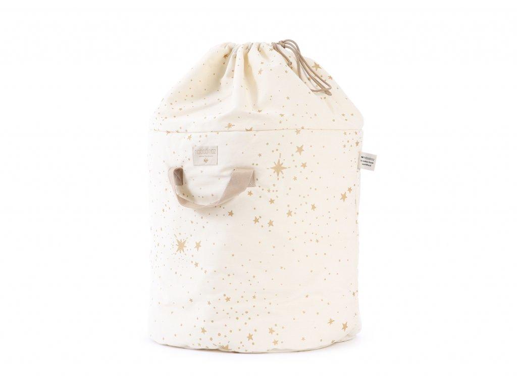 bamboo toy bag sac a jouet guarda juguetes gold stella natural nobodinoz 1 2000000101088