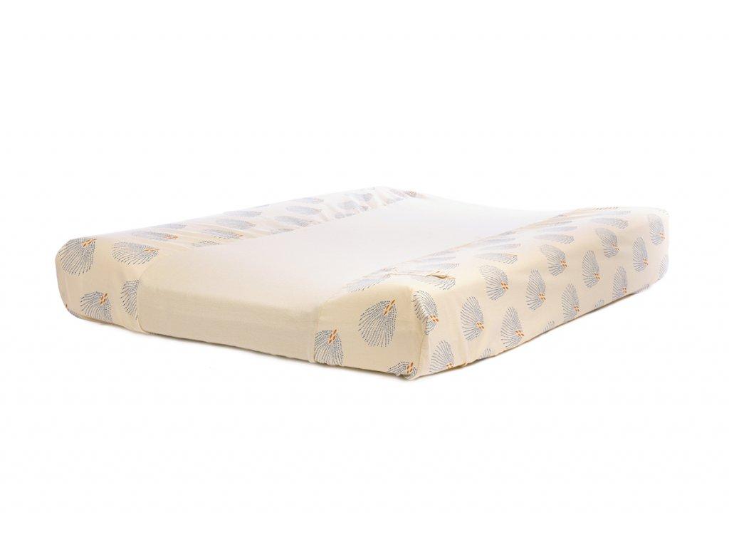 calma changing mat cambiador matelas a langer blue gatsby cream nobodinoz 1