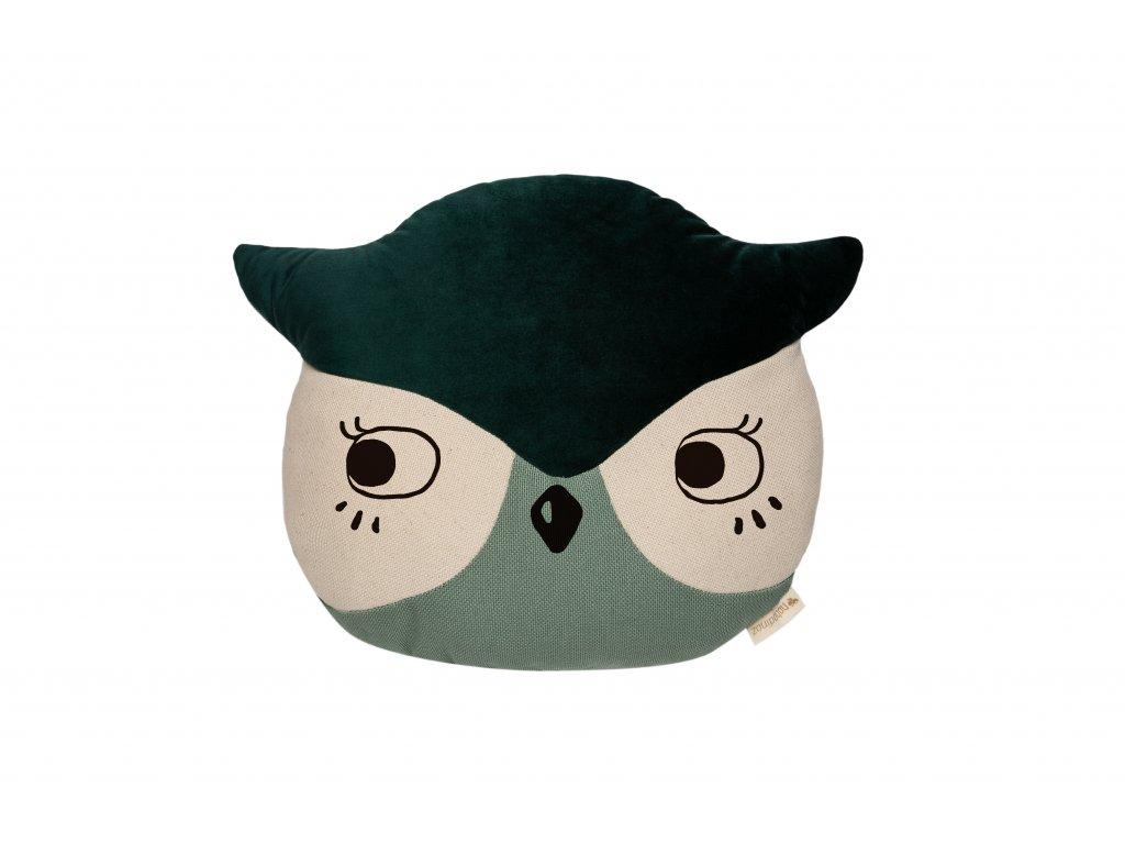 Wild animals owl cushion eden green nobodinoz 1 8435574918277