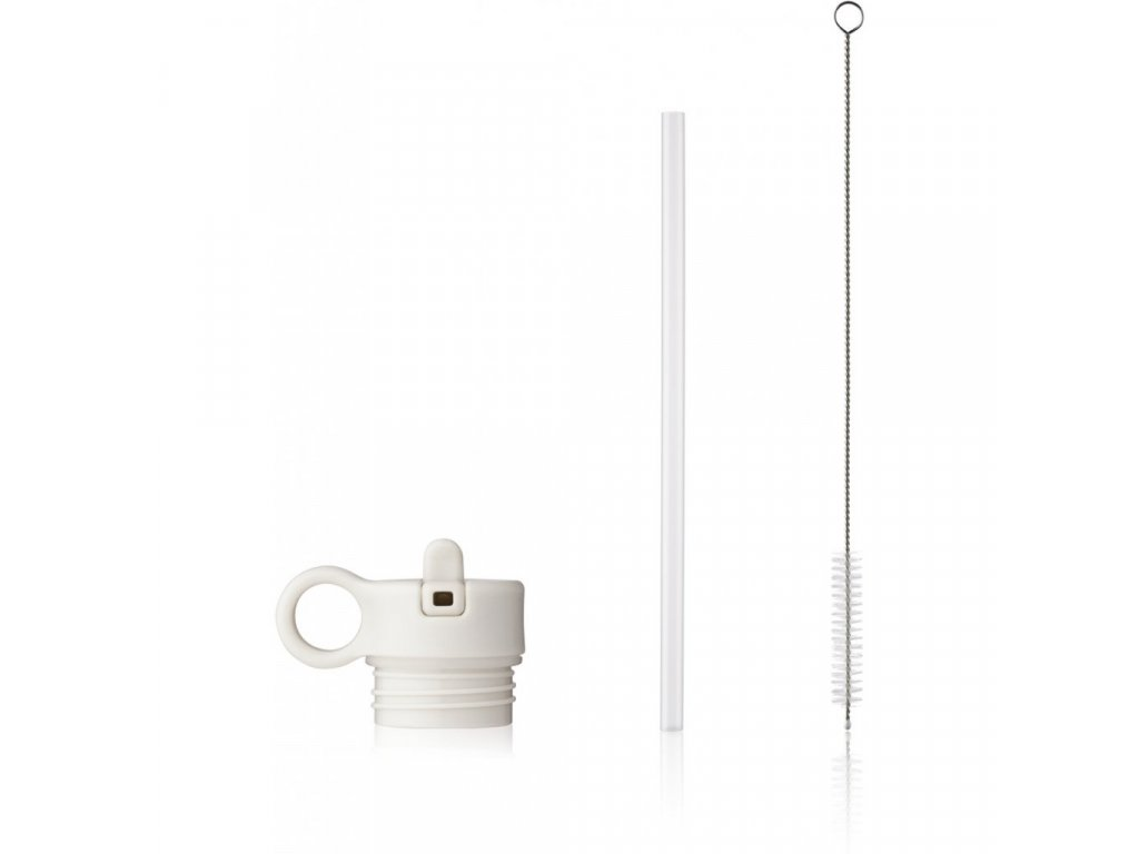 Neo Lid with straw and brush Spare parts LW14185 9406 Creme