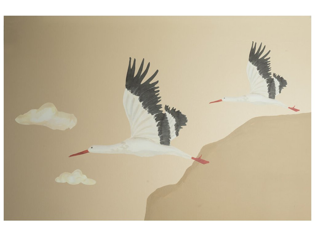Wallsticker Stork 1 1000x1000