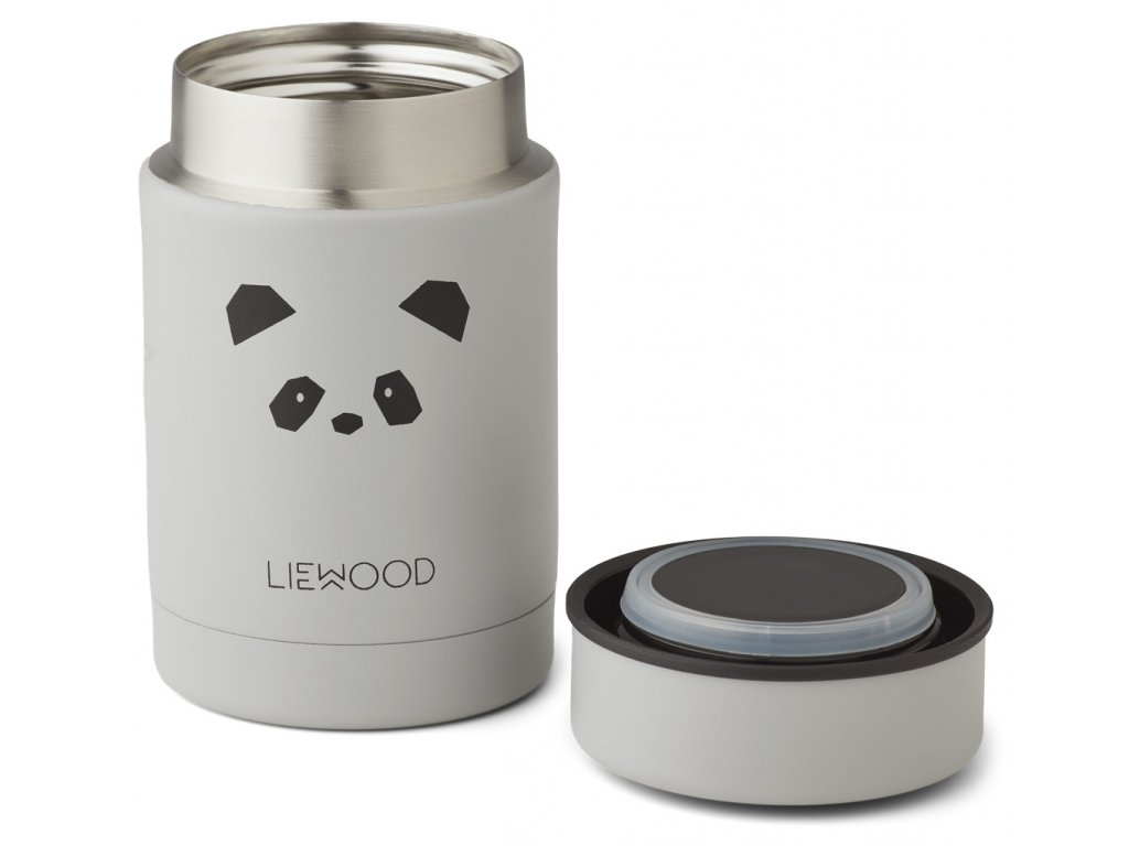 NADJA FOOD JAR PANDA LIGHT GREY 2