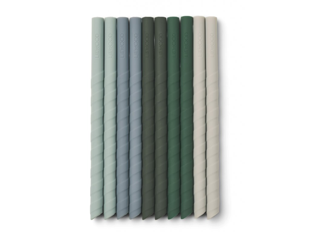 LW14104 Timoti straw 10 pack 7346 Green multi mix Extra 0