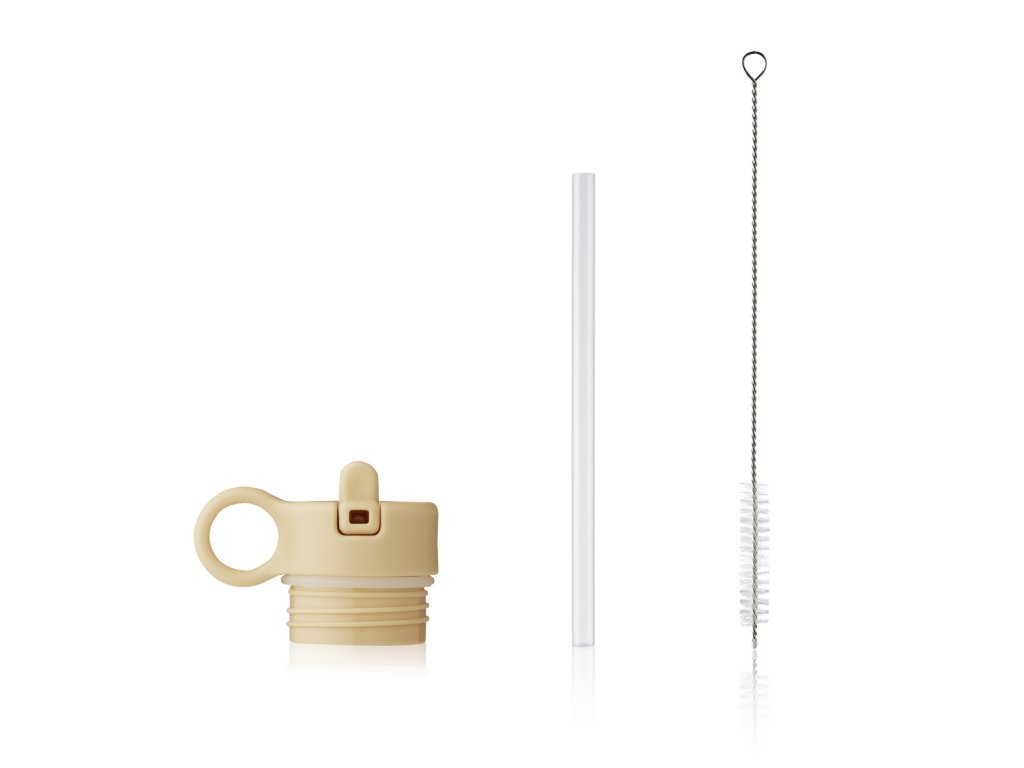Lid with straw and brush for Anker LW14184 9522 Wheat yellow Front