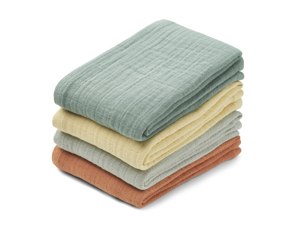 Leon muslin cloth 4 pack LW12851 7392 Peppermint multi mix 2 21 Front