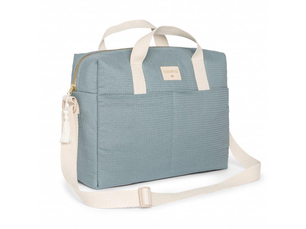 Gala waterproof changing bag stone blue nobodinoz 1 8435574919403