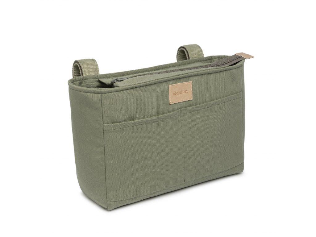 Baby on the go stroller organizer olive green nobodinoz 1 8435574920171