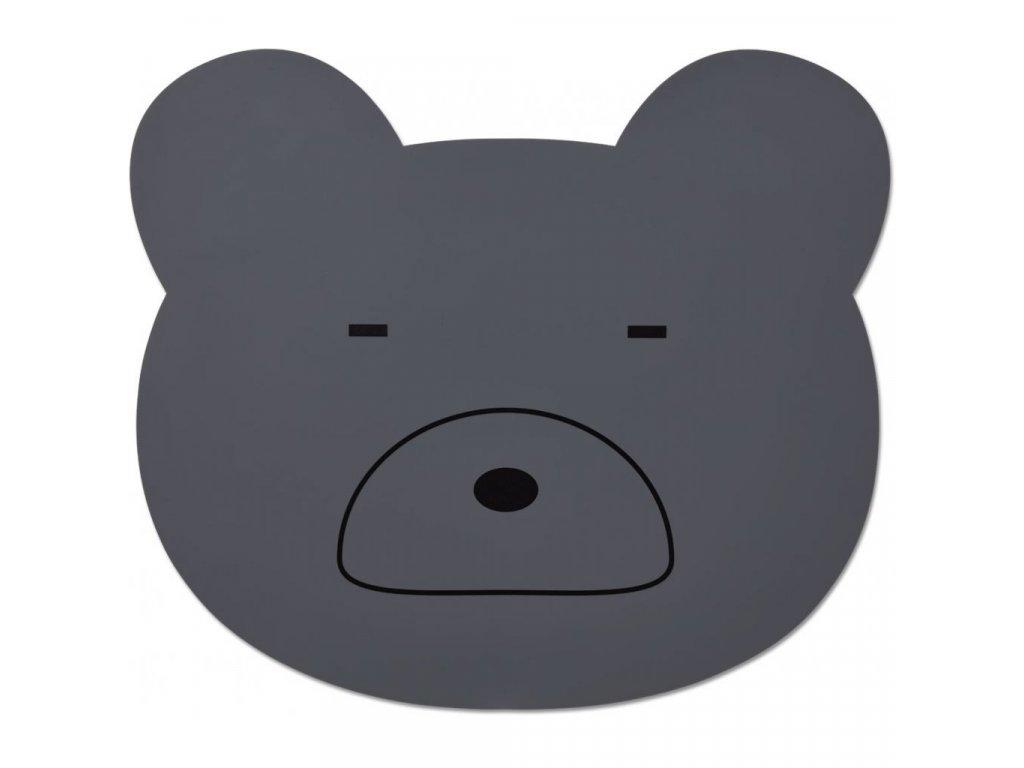 LW12565 Aura placemat 0066 Mr bear stone grey Extra 0