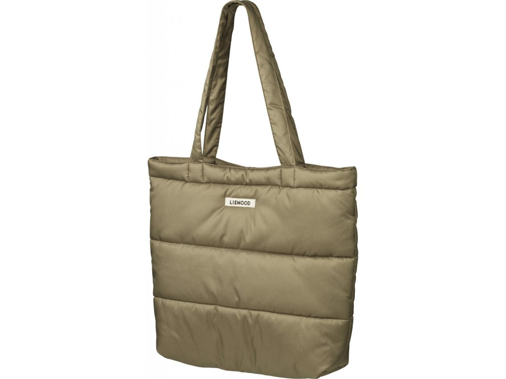 LW14338 Constance quilted tote bag 4005 Khaki Extra 0