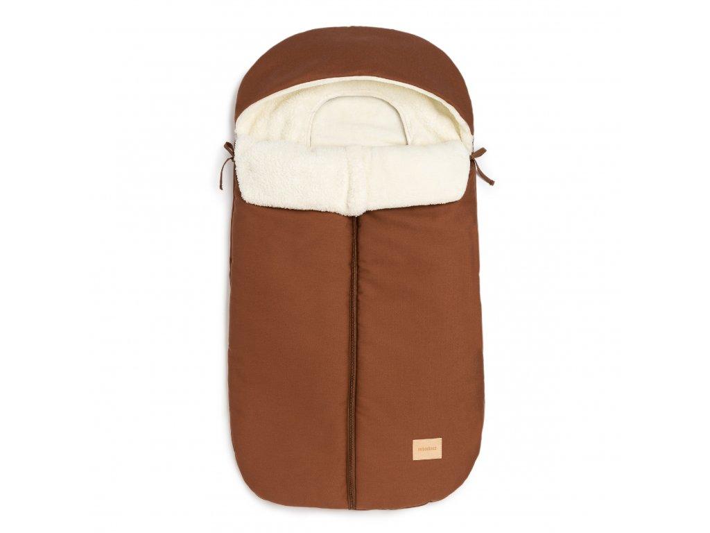 Baby on the go waterproof footmuff clay brown nobodinoz 1 8435574920478