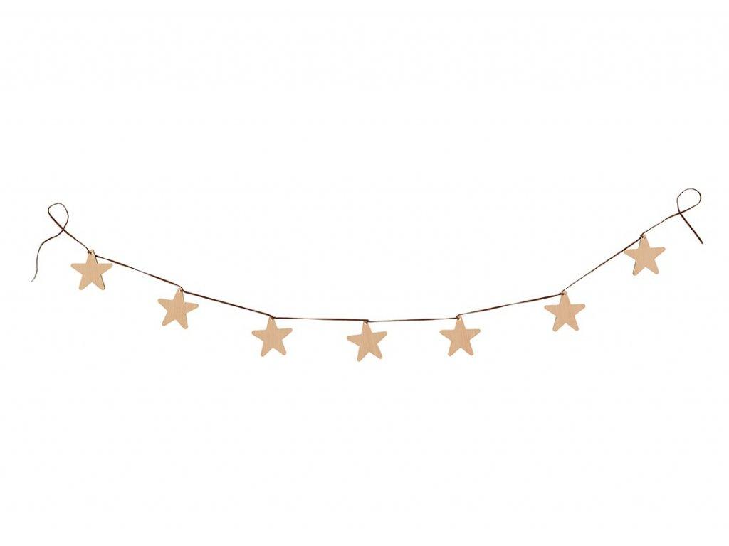 stars garland natural wood nobodinoz 1