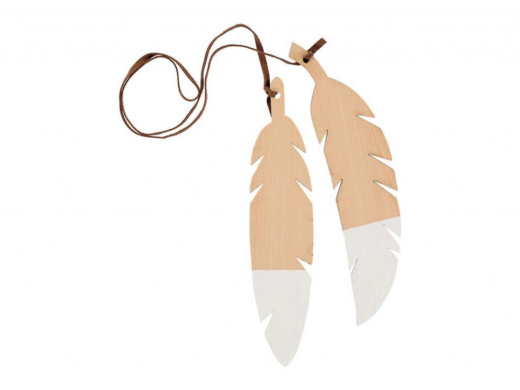 feathers duo white nobodinoz 1