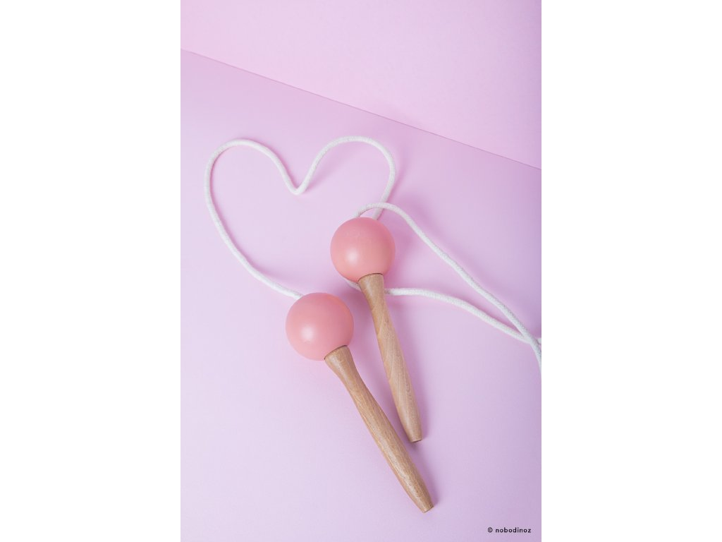 mood nobodinoz jumping rope pink wooden toy