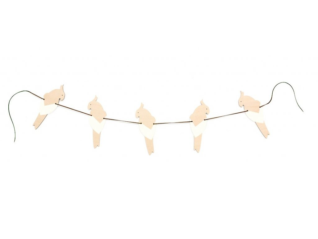 parrot garland white 1