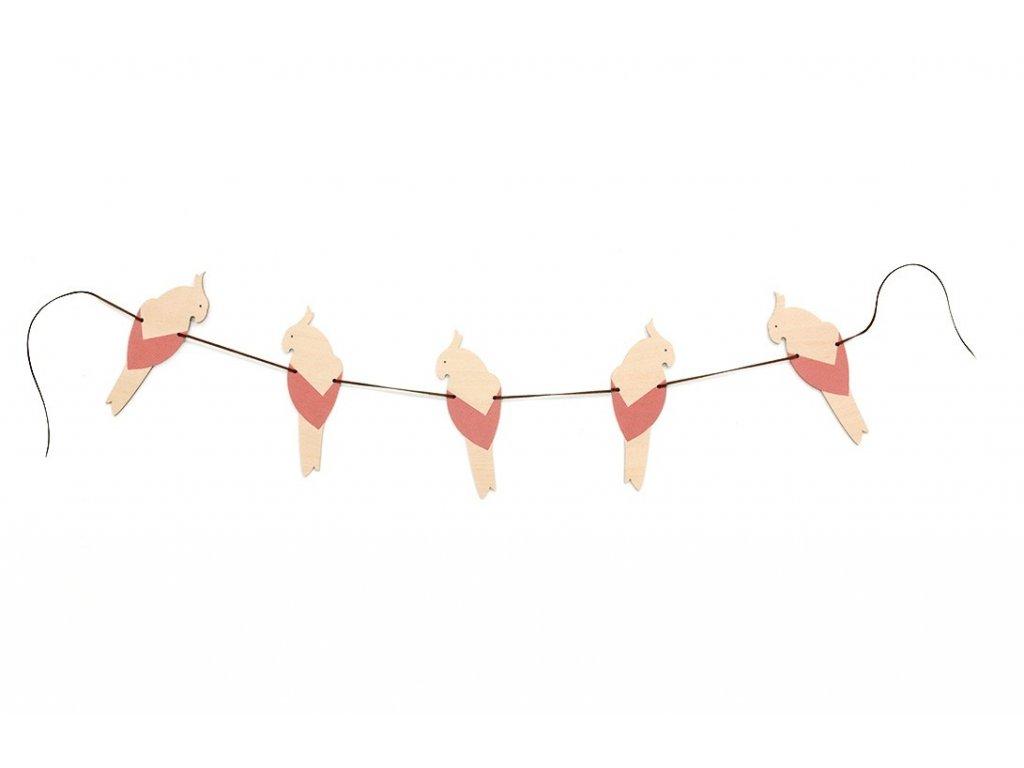 parrot garland rosa 1