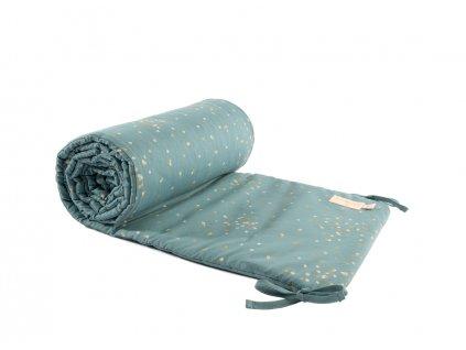 nest cot bumper tour de lit protector de cuna gold secrets magic green nobodinoz 1