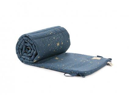 nest cot bumper tour de lit protector de cuna gold stella night blue nobodinoz 1