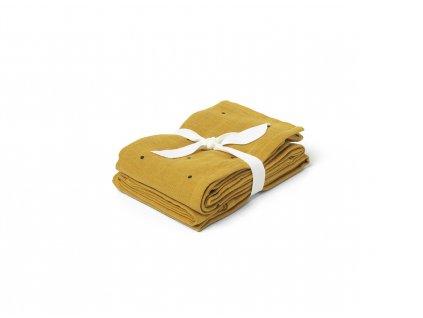 Hannah Muslin Cloth ClassicDot Mustard 5713370005074