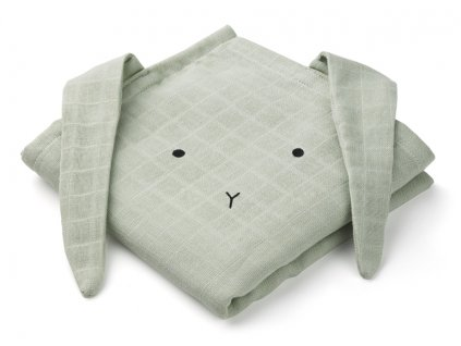 Hannah muslin cloth rabbit dusty mint