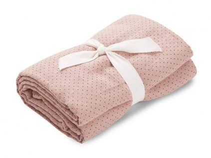 Molly swaddle little dot rose w black dots