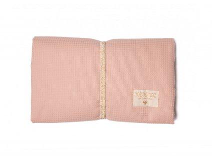 mozart waterproof changing pad misty pink cambiador rosa matelas a langer rose nobodinoz