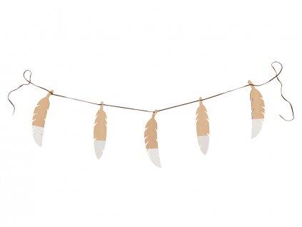 feathers garland white nobodinoz 1