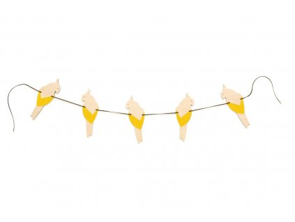 parrot garland yellow 1