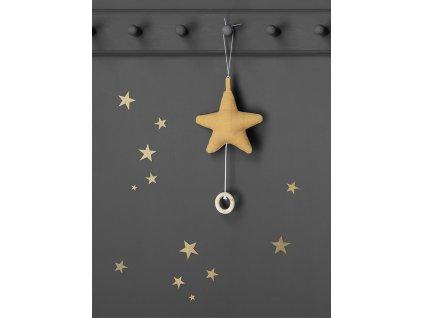 Samolepky na zeď Mini Stars - Zlatá